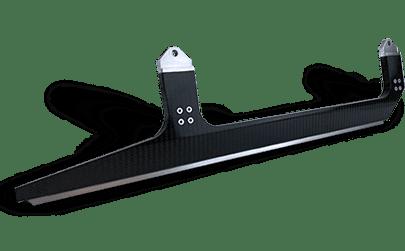 Schwarzes Bauteil für den Maschinenbau
